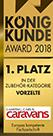 Brand-Zelte - König Kunde 1. Platz 2018