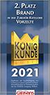 Brand-Zelte - König Kunde 2. Platz 2021