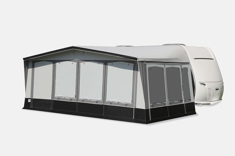 Alle Fensterklappen sind mit seitlichen Reißverschlüssen ausgestattet.