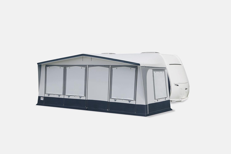 … Schutz bei Abwesenheit: alle Fensterklappen sind mit seitlichen Reißverschlüssen ausgestattet.